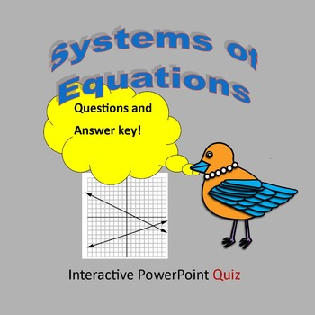Systems of Equations Pop Quiz