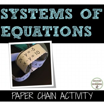 Systems of Equations Paper Chain Activity
