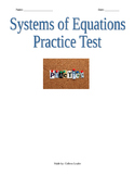 Systems of Equations Practice Test
