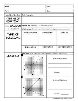 Systems of Equations (Pre-Algebra Curriculum - Unit 6)