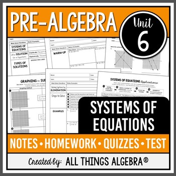 Systems of Equations (Pre-Algebra - Unit 6)
