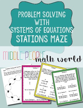 Systems of Equations Problem Solving Stations Maze