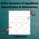 Systems of Equations Puzzle: 2 Variables