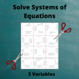 Systems of Equations Puzzle: 3 Variables