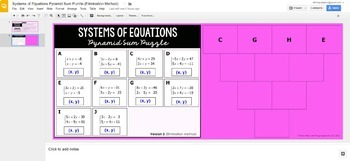 Systems of Equations Pyramid Sum Puzzles - GOOGLE SLIDES VERSION