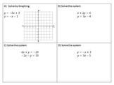 Systems of Equations - Review Activity