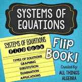 Systems of Equations Flip Book