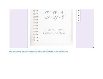 Systems of Equations Review Google Form