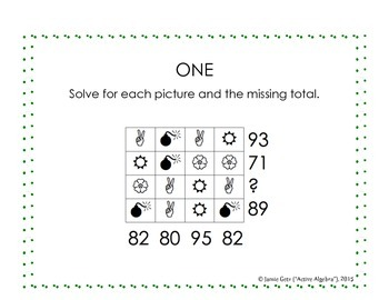 Systems of Equations - SOE Puzzle Pack A