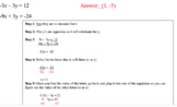 Systems of Equations - STUDY GUIDE for Unit Test