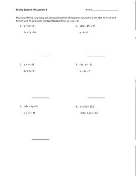 Systems of Equations Scaffolded Packet