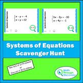 Algebra I:  Systems of Equations Scavenger Hunt