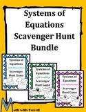 Systems of Equations Scavenger Hunt Bundle