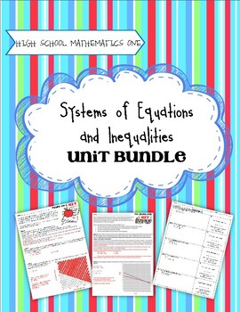Systems of Equations - Secondary One Unit Bundle