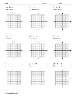 Systems Of Equations Solve By Graphing Algebra Worksheet By System Of Linear Equations Systems Of Equations Solve By Graphing Algebra Worksheet