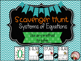 Systems of Equations - Scavenger Hunt