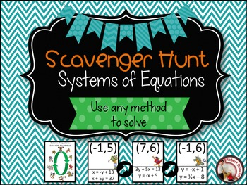 Systems of Equations- Solve using any method