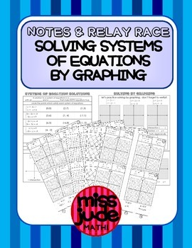 Systems of Equations: Solving by Graphing Notes & Relay Race