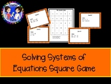 Systems of Equations Square Game