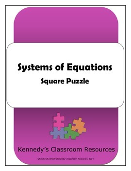 Systems of Equations - Square Puzzle