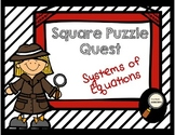 Systems of Equations - Square Puzzle Quest