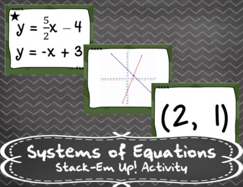 Systems of Equations - Stack-Em Up! Activity