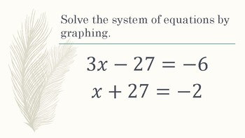 Systems of Equations Stations