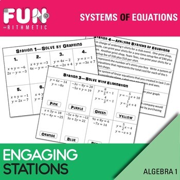 Systems of Equations/Inequalities Stations