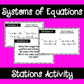 Systems of Equations Stations Activity