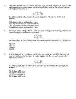 Systems of Equations Stations (Test Prep)