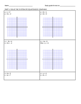 Systems of Equations Study Guide