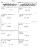 Systems of Equations (Sub & Elim) - Test Review