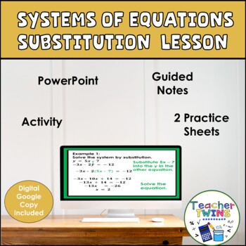 Systems of Equations Substitution - Algebra Lesson
