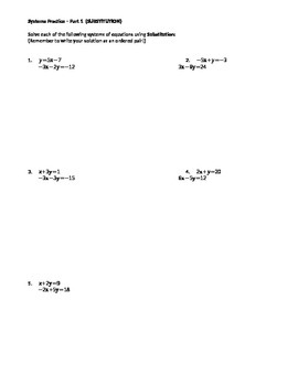 Systems of Equations: Substitution & Elimination