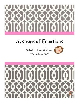 """Systems of Equations: Substitution Method """"Create a Pic"""""""