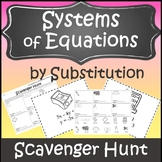 Solving Systems of Equations by Substitution {Systems of Equations Activity}