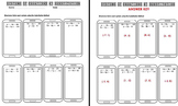 Systems of Equations Substitution Worksheet Task Cards Exit Tickets with Notes