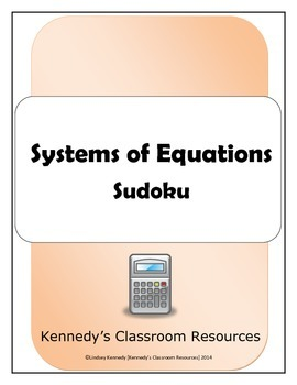 Systems of Equations - Sudoku
