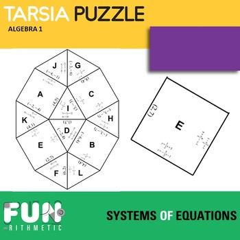Systems of Equations Tarsia Puzzle