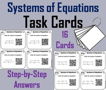 Systems of Equations Task Cards/ Systems of Equations Prac