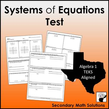 Systems of Equations Test (A2I, A3F, A3G, A5C)