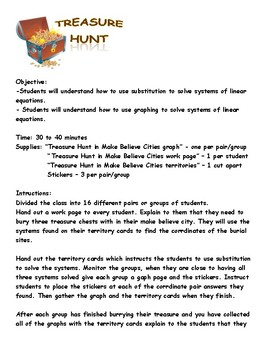 Systems of Equations Treasure Hunt