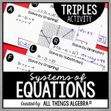 Systems of Equations Triples Activity