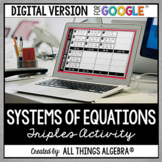 Systems of Equations Triples Activity: DIGITAL VERSION (fo