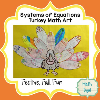 Systems of Equations Turkey Math Art