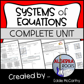 Systems of Equations Unit - Guided Notes and Homework