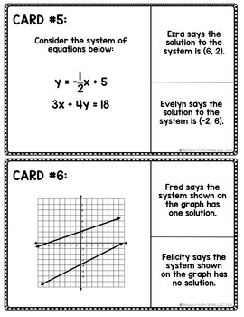 Systems of Equations Unit Review