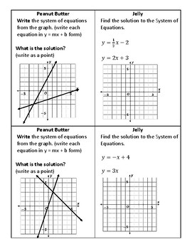 Systems of Equations Warmup/Exit Ticket