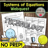 Systems of Equations Webquest (Math Distance Learning)