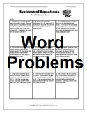 Solving Systems of Equations: Word Problems Bundle